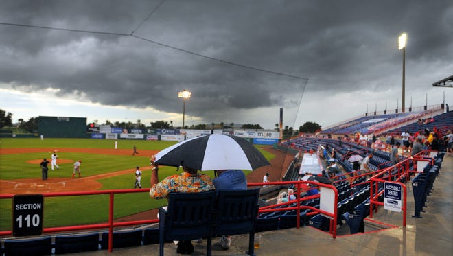 Rain wiped out the Daytona-Clearwater game Wednesday, leading to a Thursday doubleheader.