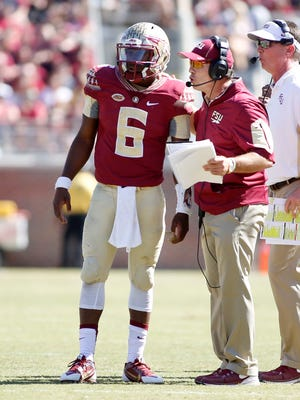Everett Golson completed 26-38 passes for 372 yard and three touchdowns Saturday as FSU defeated Louisville 41-21.