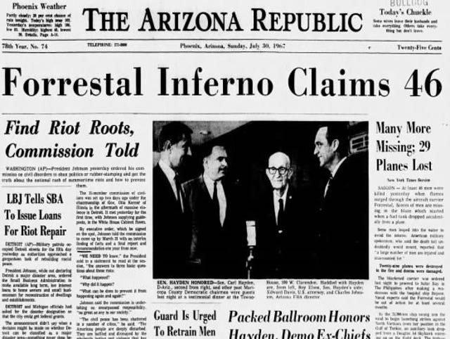 Forrestal fire: John McCain barely escaped death 50 years ago