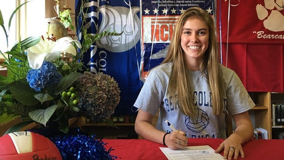 Hendersonville senior Cyrena Bedoian has signed to play college volleyball for Berry (Ga.).