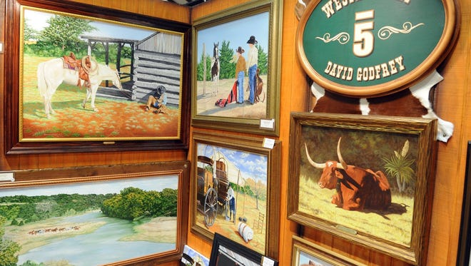 Lauren Roberts/Times Record News Cowboy True will fill the Bridwell Center with Western art Saturday, with a free juried show by more than two dozen cowboy artists and artisans.