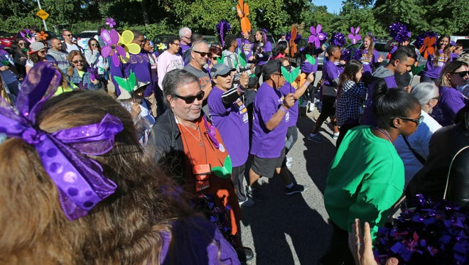 The Walk to End Alzheimer's in September at White Plains High School.