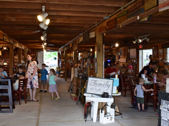 The Skelly family's old dairy barn at in Janesville,  Wis., that has been renovated into a beautiful shop that showcases the farm's produce and offers a place for families to enjoy a treat or pick up gifts for loved ones.