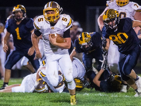 Monroe Central faced off against Shenandoah at Shenandoah