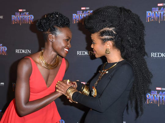 Lupita Nyong'o and jewelry designer Douriean Fletcher