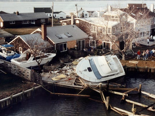 Monmouth Beach after the 1992 nor'easter.