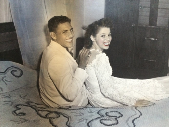 Anthony Sanchez when he was younger, with Patricia