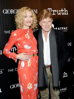 """Actors Cate Blanchett and Robert Redford attend a special screening of """"Truth"""" at The Museum of Modern Art on Oct. 7 in New York."""