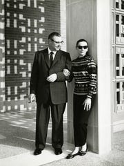Richard W. Norton, Jr. and wife Margaret outside the art gallery in the 1960s.