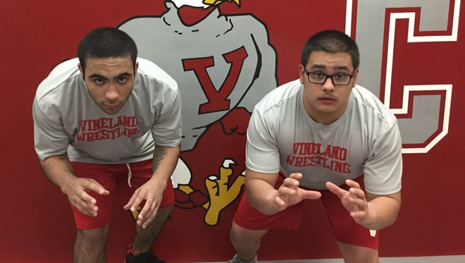 Vineland's Octavian Cruz (left) and Jonathan Morris have developed into a big 1-2 punch for the Fighting Clan.