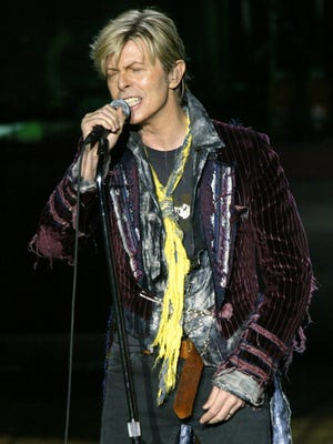 David Bowie performs at the PNC Bank Arts Center in Holmdel in 2004.
