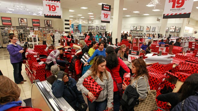 Shoppers on Black Friday  Thursday, Nov. 26, 2015 at JC Penny at Brookfield Square.