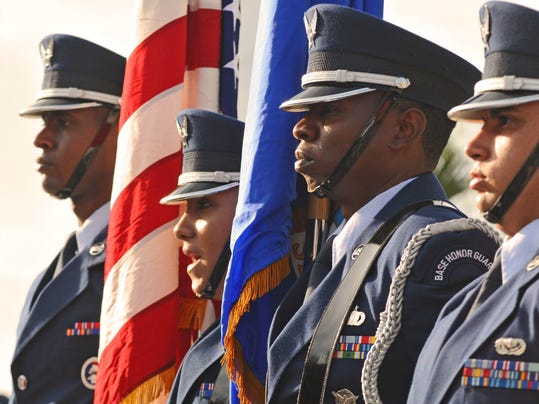 Veterans Day Massing of the Colors (2)