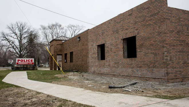 The  3,170-square-foot expansion of the Clay Township Police Department is expected to be complete by this summer.