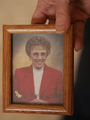 A photo of 80-year-old Nelda Hunt who died on July