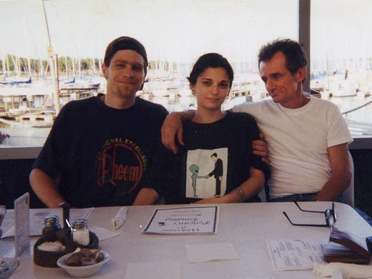 Bob Paillet, far right, with his daughter Gena and her husband in the late 1990s.
