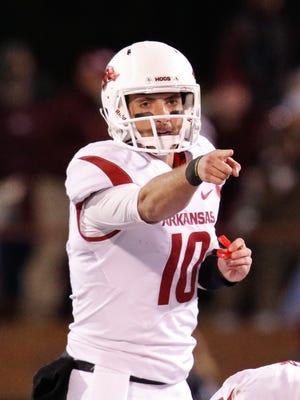 Arkansas Razorbacks quarterback Brandon Allen.