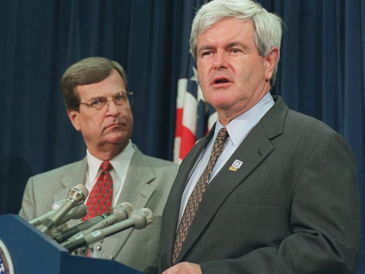 On July 24, 1996, House Speaker Newt Gingrich of Georgia.,