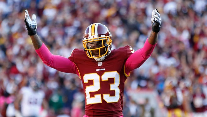 CB DeAngelo Hall has played in Washington since 2008.