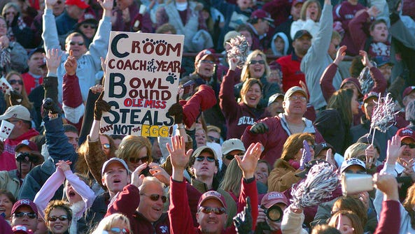 Fans cheer as Mississippi State completes a comeback