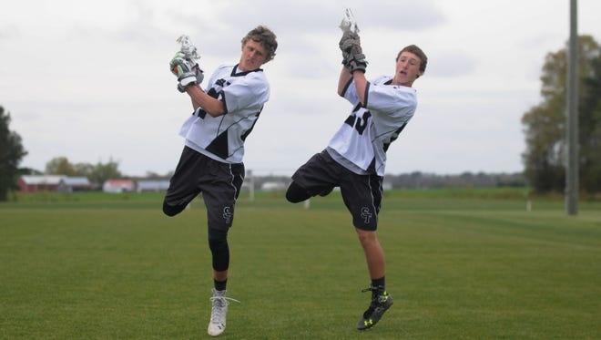 Brothers Travis, left, and Nathan Quillin have helped grow the Sussex Tech lacrosse program, even in one year of playing together as a senior and a freshman.