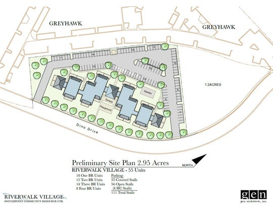 The RiverWalk village is a planned affordable housing