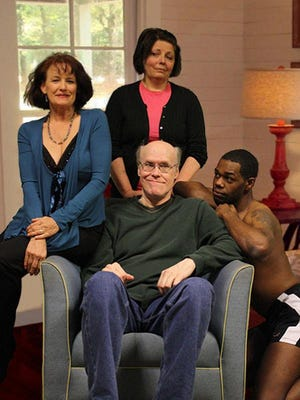 """The Nashville premiere production of """"Vanya and Sonia and Masha and Spike"""" continues through March 16. opens Friday. Clockwise, from left: Holly Butler as Masha, Terry Occhiogrosso as Sonia, James Rudolph as Spike and Lane Wright as Vanya."""