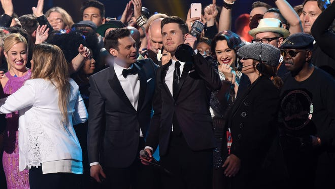 Trent Harmon is the American Idol  during the American Idol Finale.