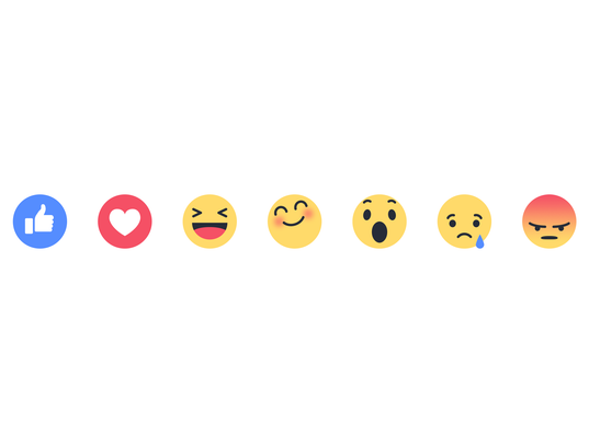 Facebook reaction button updates