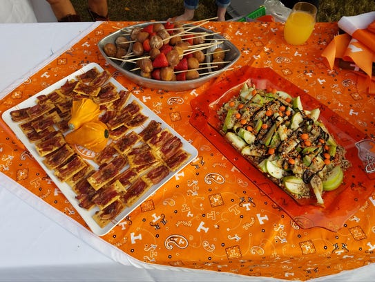 A sampling of foods from Alison Turner's tailgate on