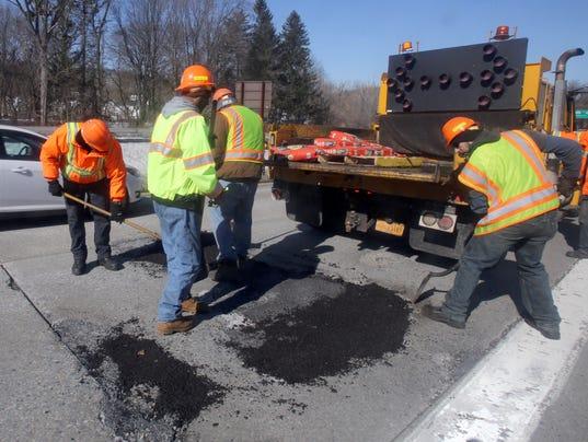 Jump potholes