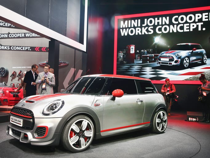 Mini introduces the John Cooper Works Concept car at the North American International Auto Show in Detroit.