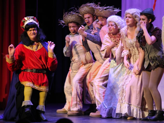 "Rye Neck High School perform ""Shrek the Musical"" during The Metropolitan High School Theater Awards at Stepinac High School in White Plains June 2, 2014."