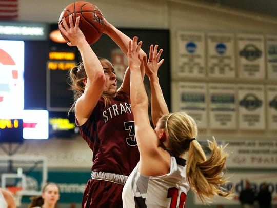 Strafford Lady Indians guard Abby Oliver (3) shoots
