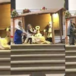 Toddlers battle over baby Jesus during Sunday service