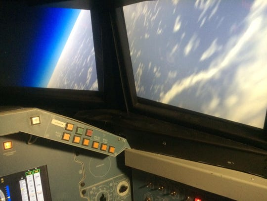 A view from a simulator from Space Camp in Huntsville,