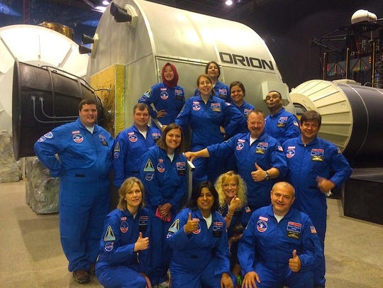 John Reichenberg and colleagues at Space Camp in Huntsville,