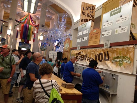 The Land of 10,000 Beers craft beer exhibit featured Lupine Brewing for the first time in 2015.