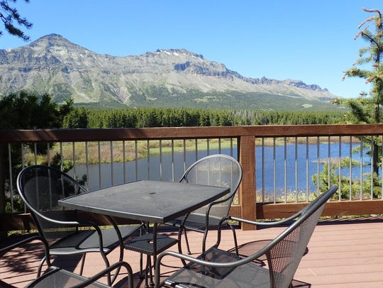 Enjoy the view of Little Dog and Summit Mountains while