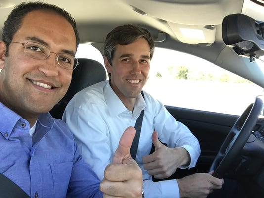 Beto O'Rourke and William Hurd