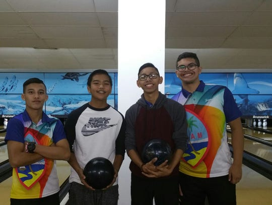 Some of Guam's best youth bowlers include, from left,