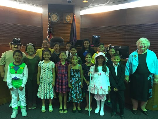 Harry S. Truman Elementary School students gather for