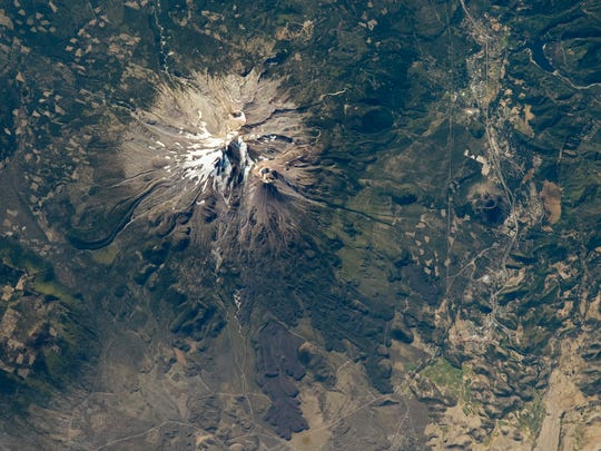 Mt. Shasta as seen from the International Space Station on Sept. 20, 2012.