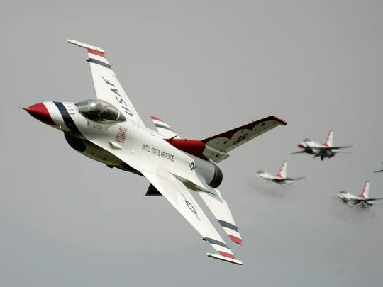 """The F-16 Fighting Falcon will be on display in the skies over Dover Air Force Base during the """"Thunder Over Dover"""" air show and open house on Saturday and Sunday."""