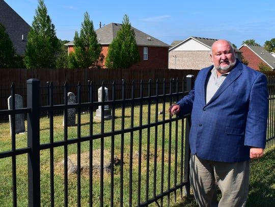 La Vergne Mayor Dennis Walron stands outside the Waldron