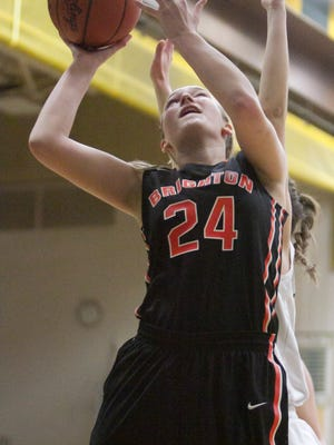Sophie Dziekan scored 14 points for Brighton in a 57-12 victory over Pinckney.