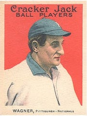 """Burlington police released this photograph of a """"similar"""" baseball card of Honus Wagner that was reported stolen from a North Prospect Street home last week."""