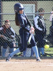 Kayce Ziemba takes a cut at a knee-high pitch Friday