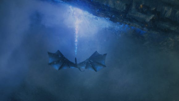 Wight Viserion takes down the Wall on 'Game of Thrones'