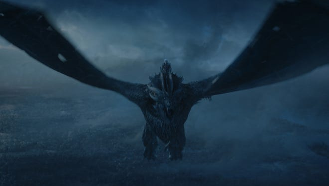 Viserion the wight dragon on 'Game of Thrones.'